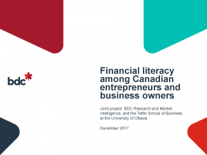 Financial literacy among Canadian entrepreneurs and business owners thumbnail