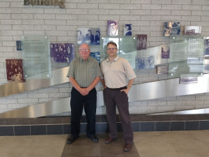 From left to right: Steve Smith (part-time professor at Telfer) and Dennis